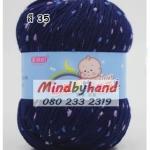 ไหมพรม Baby (ไหมพรมสำหรับเด็ก) มีจุดลาย สี 35 NavyBlue
