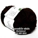 ไหมพรม Bamboo Cotton รหัสสี 580 สีดำ