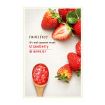 พร้อมส่ง INNISFREE IT'S REAL SQUEEZE MASK-STRAWBERRY 잇츠 리얼 스퀴즈 딸기 마스크 950 won