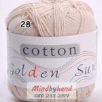 ไหมพรม Cotton 100% รหัสสี 28 Light Camal