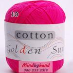 ไหมพรม Cotton 100% รหัสสี 10 Large Red