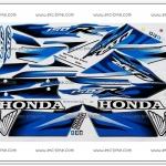 สติ๊กเกอร์ CBR150-R ปี 2007 รุ่น 6 ติดรถสีน้ำเงิน
