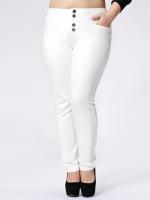 กางเกงลำลองขายาว สีขาว/สีดำ (XL,2XL,3XL,4XL,5XL)