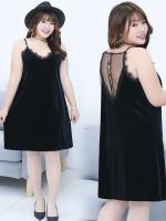 ชุดนอนกำมะหยี่สีดำ (XL,2XL,3XL) Ai-1755