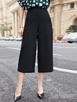 กางเกงลำลองขากว้างไซส์ใหญ่สไตล์เกาหลี สีเทา/สีดำ (XL,2XL,3XL,4XL,5XL)