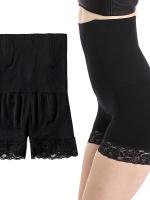 ♥พร้อมส่ง♥ กางเกงซับในกันโป๊ ปลายขาผ้าลูกไม้ สีดำ (3XL,4XL) W-6907
