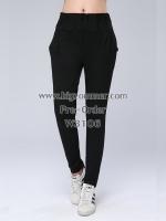 กางเกงผ้ายืดสีดำขายาวไซส์ใหญ่ เก็บความร้อนได้ดี (XL,2XL,3XL,4XL,5XL)
