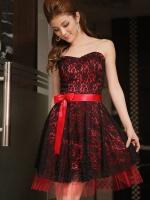 ♥พร้อมส่ง♥ชุดราตรีสไตล์เกาหลีสวยร้อนแรง สีแดง 2XL 3XL