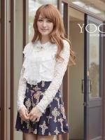 ♡♡pre-order♡♡  เสื้อผ้าแฟชั่นน่ารักๆ แนวเจ้าหญิงหวานๆ สีขาวแต่งมุก แขนยาวแต่งผ้าลูกไม้ดูหรูหราทั้งตัว สวยมากๆ
