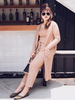 ♥พร้อมส่ง♥ ชุดเซ็ท 3 ชิ้น สีน้ำตาล เสื้อคลุมยาว+เสื้อยืดสายเดี่ยว+กางเกงขาสี่ส่วน 5XL อก 46
