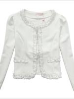 ♥พร้อมส่ง♥ เสื้อแจ็คเก็ตคลุมไหล่สีขาวสไตล์แฟชั่นเกาหลีไซส์ใหญ่ (3XL)