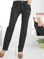 กางเกงขายาวไซส์ใหญ่ กระเป๋าหน้า-หลัง สีดำ XL 2XL 3XL