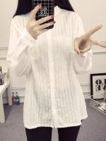 ++พร้อมส่ง++ เสื้อเชิ้ตยาวไซส์ใหญ่ สีขาว แขนยาว (4XL)