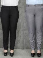 กางเกงทำงานขายาว ใส่ได้ 2 แบบ โดยปลายขาพับโชว์ลายได้ สีดำ/สีเทา (33,34,36,37,38,40,42) TX-59