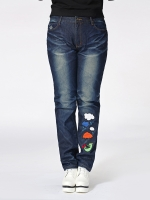 กางเกงยีนส์ไซส์ใหญ่ ทรงตรง ขายาว (L,XL,2XL,3XL,4XL)