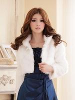 ♥พร้อมส่ง♥ เสื้อคลุมขนมุ้งมิ้ง สีขาว (2XL) JK~2316