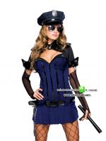ชุดตำรวจหญิง ชุดแฟนซีเครื่องแบบ ชุดคอสเพลย์ตำรวจ ชุดตำรวจสาว ชุดแฟนซีอาชีพ ชุดแอร์โฮสเตส