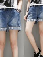 กางเกงยีนส์ขาสั้น สีฟ้าเข้ม (XL,2XL,3XL,4XL,5XL)