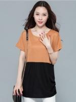 [PRE-ORDER] เสื้อยืดแขนค้างคาว ตัดต่อสีผ้า สีginger (M,L,XL,2XL,3XL,4XL)