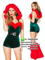 ชุดซานตาครอสสาวพร้อมถุงเท้า ชุดซานตี้ ชุดแฟนซีซานต้า ชุดซานต้าครอส ชุดซานตาครอส ชุดแฟนซี ชุดคอสเพลย์