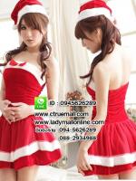 ชุดซานตาครอสสาว ชุดซานตี้ ชุดแฟนซีซานต้า ชุดแฟนซี ชุดคอสเพลย์ ชุดแฟนซีสีแดง ชุดพริตตี้