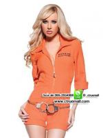 ชุดตำรวจหญิงสีส้ม ชุดแฟนซี ชุดคอสเพลย์ ชุดแฟนซีเครื่องแบบ ชุดแฟนซีอาชีพในฝัน ชุดทหาร ชุดกะลาสี ชุดทหารเรือ