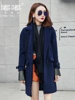 เสื้อโค้ทขนสัตว์สำหรับสาวอวบ สีน้ำเงิน ซีซั่นวินเทอร์ (XL,2XL,3XL,4XL,5XL) E3279