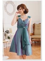 ♥พร้อมส่ง♥ ชุดราตรีงดงาม สีเขียว ไซส์ XL