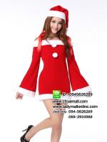 ชุดซานตาครอสสาว ชุดซานตี้ ชุดซานตาครอส ชุดแฟนซีซานต้า ชุดแฟนซี ชุดคอสเพลย์ ชุดแฟนซีสีแดง