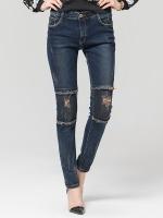 กางเกงยีนส์ยืดขายาว สีกรมท่า (L,XL,2XL,3XL,4XL)