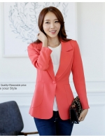 ++พร้อมส่ง++ เสื้อสูทสไตล์เกาหลี สีส้ม (2XL,3XL)