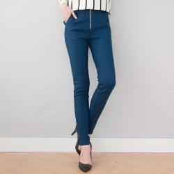 ♥♥สีน้ำเงินพร้อมส่งค่ะ♥♥ กางเกงเลกกิ้ง ขายาวสีน้ำเงิน เนื้อหนา ไซด์ L