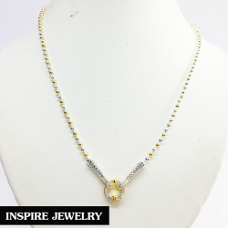 "Inspire Jewelry ,สร้อยคอเม็ดอิตาลีขนาด 3มิล สลับเม็ด ยาว 20"" มีห่วงเพชรสวิส ถอดออกได้ สำหรับใส่จี้ขนาดใหญ่ได้ พร้อมถุงกำมะหยี่สวยหรู"