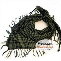 ผ้าพันคอชีมัค Shemash (เนื้อผ้า Viscose) : สีเขียวดำ CV0014