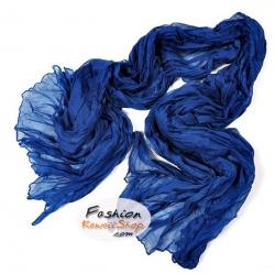 ผ้าพันคอแฟชั่นเกาหลีสีพื้น Hot Basic : สีน้ำเงินเข้ม CK0406