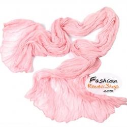 ผ้าพันคอแฟชั่นเกาหลีสีพื้น Hot Basic : สีชมพูอ่อน CK0402