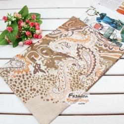 ผ้าพันคอแฟชั่นลายมังกร : สีครีม CK0200