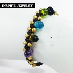 แบรนด์ Inspire Jewelry สร้อยข้อมือเชือกเทียนถัก ยาว 18cm.