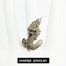 Inspire Jewelry ,แหวนพญานาค รูปร่าง สรีระ งดงาม ละเอียด สวยงาม ปราณีต พร้อมถุงกำมะหยี่สวยหรู งานอินเทรนชั้นนำ สวยหรูสำหรับคนพิเศษ ใส่เอง เป็นของขวัญของฝาก วาเลนไทน์ วันเกิด ตรุษจีนฯลฯ
