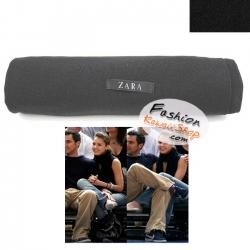 ผ้าพันคอแฟชั่นเกาหลีสีพื้น ZARA BLACK : สีดำ CK0142