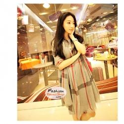ผ้าพันคอแฟชั่น ลายสก็อตคลาสสิค Classic : สีเทา CK0387