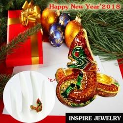 Inspire Jewelry ,แหวนพญานาค งานลงยาคุณภาพ นำโชค เสริมดวง