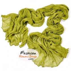 ผ้าพันคอแฟชั่นเกาหลีสีพื้น Hot Basic : สีเขียว CK0401