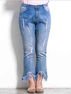 ♥พร้อมส่ง♥ กางเกงยีนส์สาวอวบ ไซส์ 42