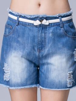 ♥พร้อมส่ง♥ กางเกงยีนส์ขาสั้นไซส์ใหญ่ (5XL)