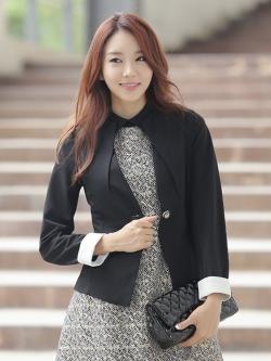 ♥พร้อมส่ง♥ สูทแฟชั่นเกาหลี สีดำ XL อก 36