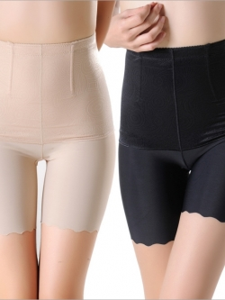 กางเกงกระชับหน้าท้องขาสั้นแบบเอวสูง