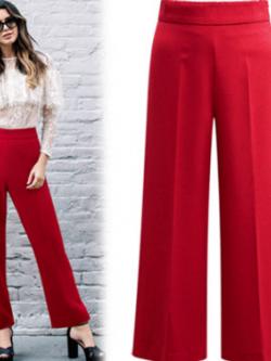 กางเกงทำงานขายาว สีแดง (XL,2XL,3XL,4XL,5XL) X0316#