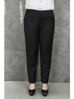 กางเกงทำงานขายาวสีดำสำหรับสาวอวบ (33,34,36,37,38,40,42) TX-69