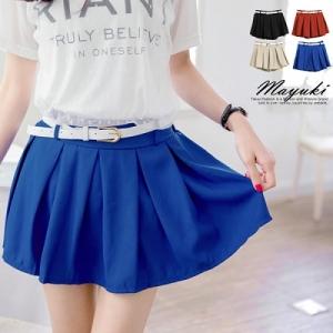 ♥♥พร้อมส่งค่ะ♥♥กางเกงกระโปรงขาสั้น พร้อมเข็มขัดเส้นเล็กสีขาวน่ารักๆ เนื้อผ้าชีฟองสวยๆ ค่ะ สวมใส่สบาย ไม่โป๊